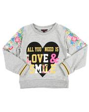 Tops - Glitter Print L/S Sweatshirt (7-16)