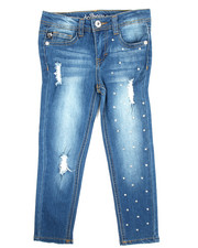Jeans - Fashion Studded Jeans (4-6X)
