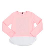 Fashion Tops - Chiffon Bottom Hacci L/S Shirt (7-16)