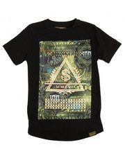 Sizes 8-20 - Big Kids - S/S 3D Embossed Money Print Tee (8-20)