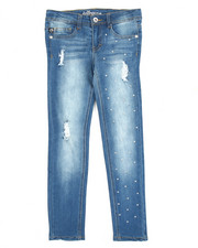 Girls - Fashion Studded Jeans (7-16)