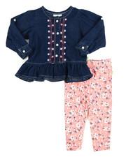 Infant & Newborn - Chambray/Denim Legging Long Set (Infant)