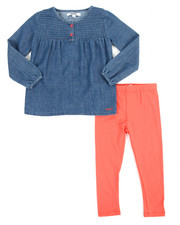 Girls - Denim Ruffle 2 Piece Set (4-6X)