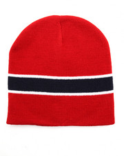 Men - Striped Short Beanie