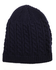 Men - Cuffless Cableknit Beanie