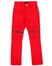 Bottoms - Bull Rigid Zipper Moto Jeans (8-20)