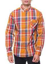 Men - L/S Gridwood Poplin