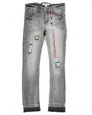 Boys - Olivia Skinny Denim Rip/Repair Jean (7-14)