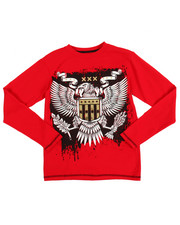 Boys - L/S Americana Eagle Knit Top (8-20)
