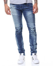 Jeans & Pants - Pleated Knee Motto Jeans