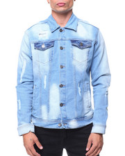 Denim Jackets - Old Vintage Ripped Denim Jacket