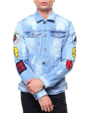 Denim Jackets - Patched Vintage Denim Jacket