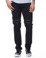 Men - Motto Twill Zippers Jeans