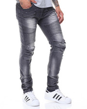 Men - Pleated Knee Motto Jeans