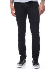 Jeans & Pants - Knee Embossing Coated Jeans