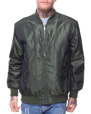 The Classic Bomber Jacket - Nylon Irridecent Bomber Jacket