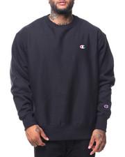 Pullover Sweatshirts - Reverse Weave Sherpa Script Graphic Crew