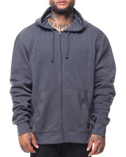 Men - L/S Biker Full Zip Fleece Hoodie (B&T)