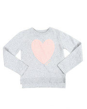 Girls - Eyelash Heart Applique Sweater (4-6X)