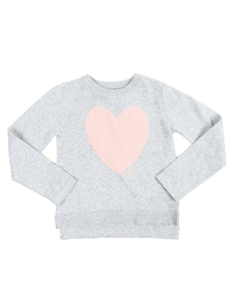 DKNY Jeans - Eyelash Heart Applique Sweater (4-6X)