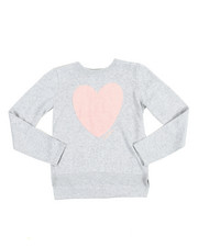Sizes 7-20 - Big Kids - Eyelash Heart Aplique Sweater (7-16)
