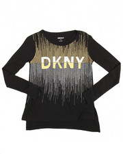 Sizes 7-20 - Big Kids - DKNY 1989 Glitter Tee (7-16)