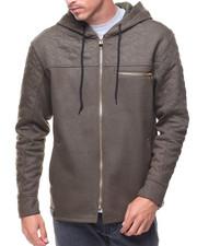 SWITCH - Coated Fleece Quilted Full Zip Hoody