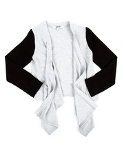 Sizes 7-20 - Big Kids - Cozy Flare Sweater w/PU Sleeve (7-16)
