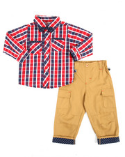 Sets - 2 Piece Plaid/Pant Long Set (Infant)