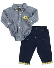 Infant & Newborn - 2 Piece Plaid/Pant Long Set (Infant)