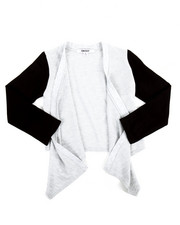 Girls - Cozy Flare Sweater w/PU Sleeve (4-6X)