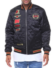 Men - Quilted Patched Jacket
