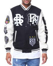 Outerwear - Varsity Patched Jacket Bad Kids