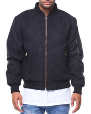 Men - Delight Faux Suede Bomber Jacket