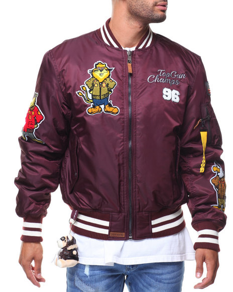 88f7c1fc961 Buy MA1 Champs Nylon Bomber Jacket (Cartoon Patch) Men s Outerwear ...