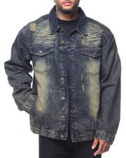 Denim Jackets - Destructed Long Sleeve Denim Jacket (B&T)