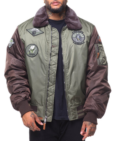 Top Gun - B-15 Color Block Bomber Jacket (B&T)