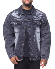 Denim Jackets - Destructed Long Sleeve Denim Jacket (B&T)