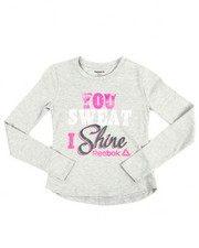 Girls - You Sweat I Shine Tee (7-16)