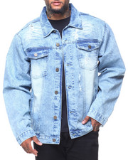 Outerwear - Destructed Long Sleeve Denim Jacket (B&T)