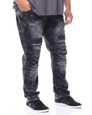 SMOKE RISE - Split Knee Denim Jeans (B&T)-2142050