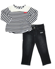 Girls - Stripe & Lace 2 Piece Set (Infant)