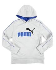 Puma - L/S Poly Fleece Hoodie (8-20)