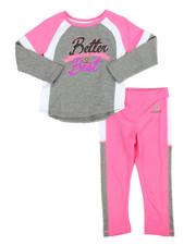 Reebok - Color Block Better Than 2 Piece Set (2T-4T)