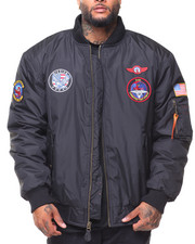 Outerwear - MA-1 Patched Flight Jacket (B&T)