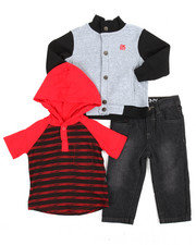 Boys - 3 Piece Hoodie Long Set (Infant)