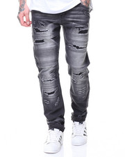 Men - MOTO PLEATS/PATCHED JEANS