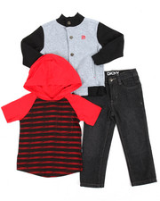 Boys - 3 Piece Hoodie Long Set (2T-4T)