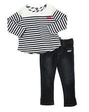 Sets - Stripe & Lace 2 Piece Set (2T-4T)
