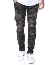 Men - CAMO MOTTO JEANS ZIPPER POCKET